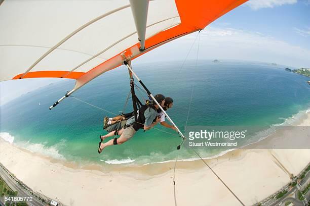 Hang Gliding Over Pepino Beach