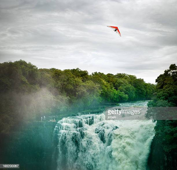 Hang gliding over Victoria Falls