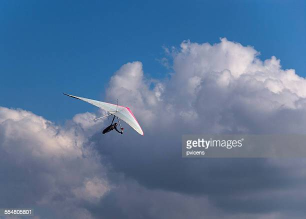 Hang gliding to the clouds