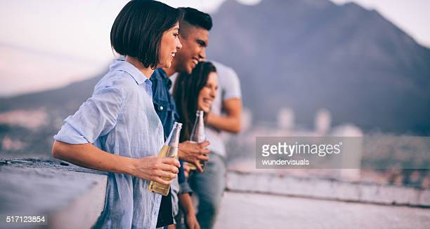 Hang out on rooftop with friends after work