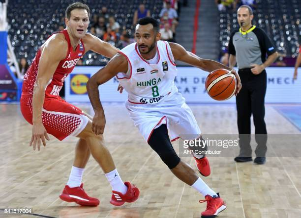 Hanga Adam of Hungary vies with Bogdanovic Bojan of Croatia during the FIBA Eurobasket 2017 mens Group C basketball match between Hungary and Croatia...