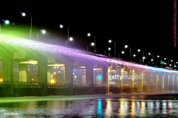 Hangang Banpo Bridge Rainbow Fountain