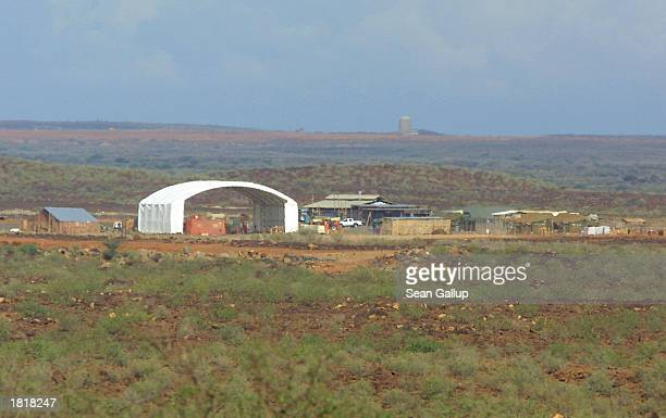 Hangar is visible at a base which the U.S. Military launches it's armed Predator drones for surveillance in the Horn of Africa February 27, 2003 in...