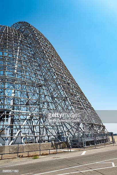 Hangar One within the secure area of the NASA Ames Research Center campus in the Silicon Valley town of Mountain View California August 25 2016...