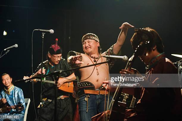 Hanggai performs at New Mao Livehouse on 13th May 2011 in Shanghai, China.