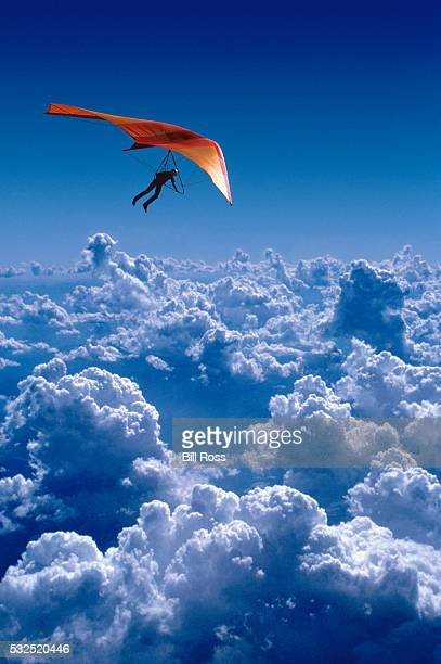 Hang-Gliding Above the Clouds