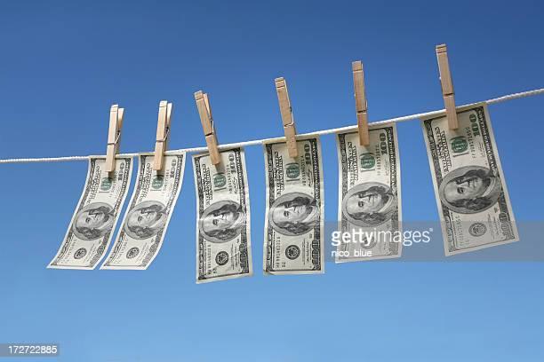 Hanging $100 bills
