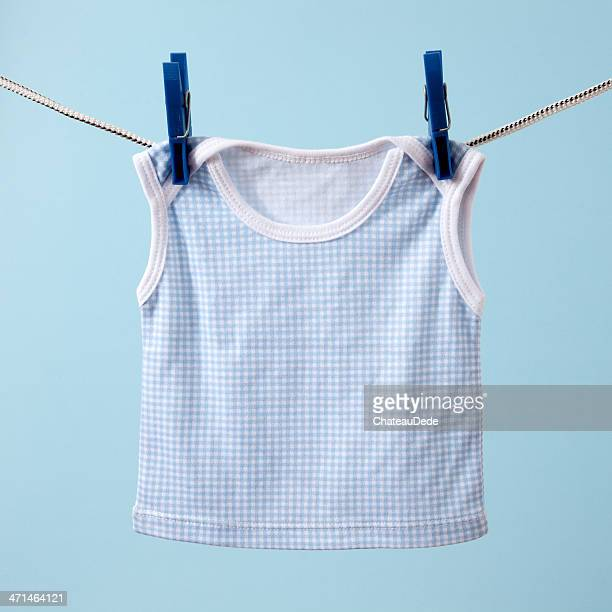 Hanging baby clothing