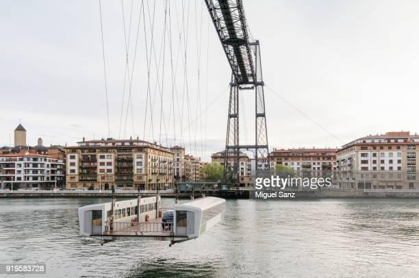 hanging bridge between portugalete and getxo - ビスカヤ県 ストックフォトと画像