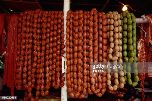 Hanging Chorizo at Abastos Market