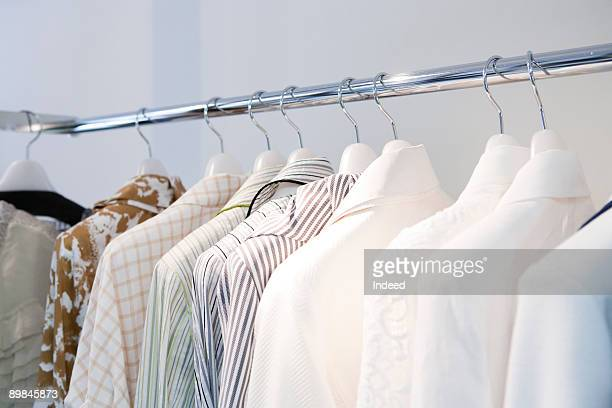 Hanging cloths on rack