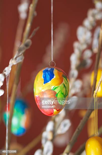 Hanging eastereggs, close up