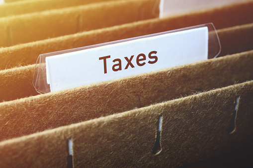 Hanging Files Labelled Taxes 1139836504