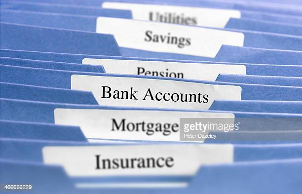 Hanging files/bank accounts