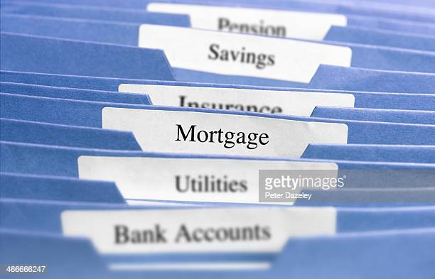 hanging files/mortgage - mortgage loan stock pictures, royalty-free photos & images