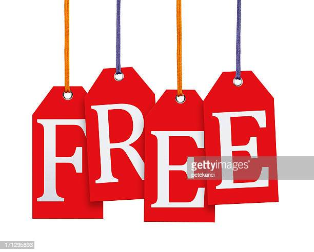Hanging Free Tags (Clipping Path)