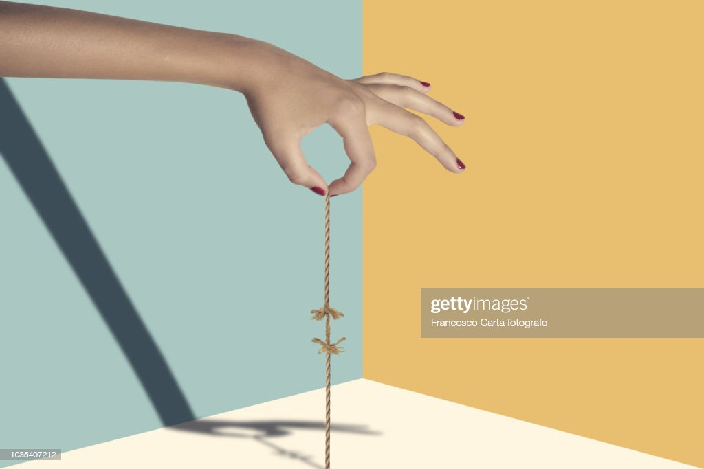 Hanging from a thread : Stock Photo