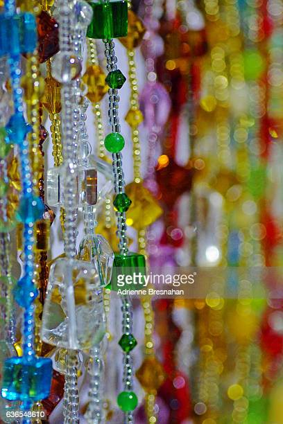 Hanging Glass Beads at Beijing's Hong Qiao Pearl Market