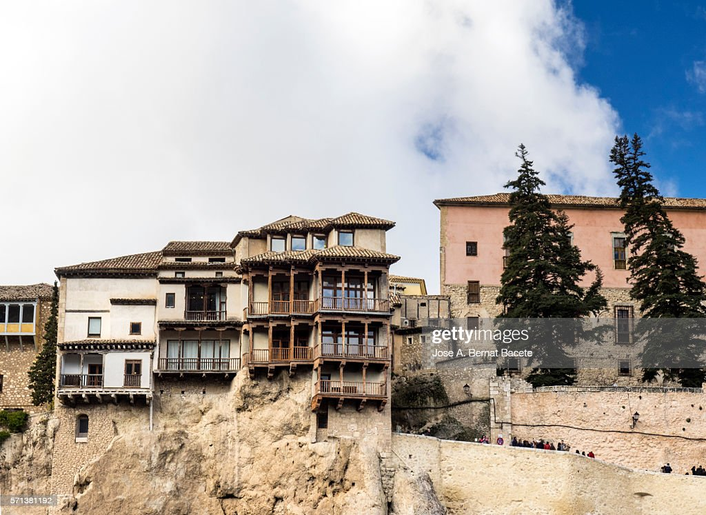 Hanging Houses, Cuenca, Castilla La Mancha, Spain : Stock Photo