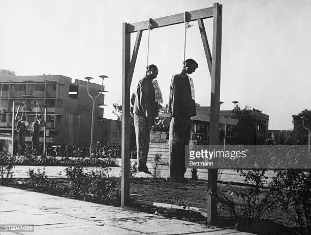 Hanging in Baghdad Baghdad Two of the 14 Iraqis hanged January 27th as spies for Israel dangle from a gallows in Baghdad Nine of the executed men...