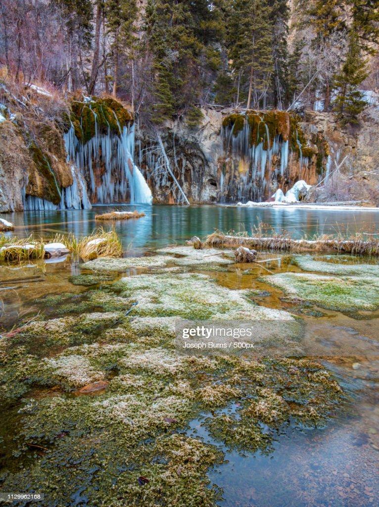 Hanging Lake In Winter : Stock Photo
