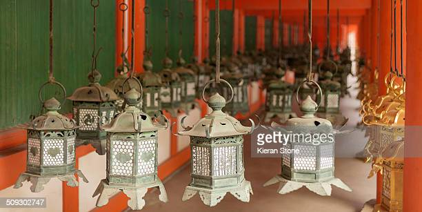 Hanging lanterns in Kasuga Taisha Shrine, Nara Prefecture, Japan.