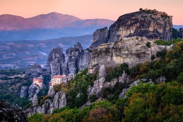 Hanging On Cliffs -Meteora Greece At Sunrise ()