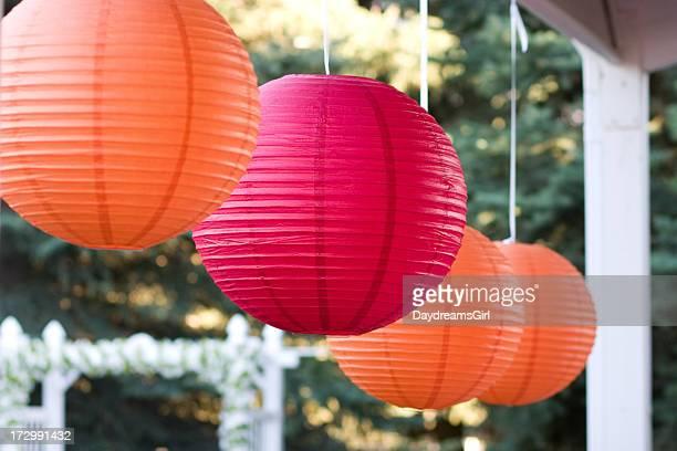 Hanging Orange und Rosa Kugel Dekoration