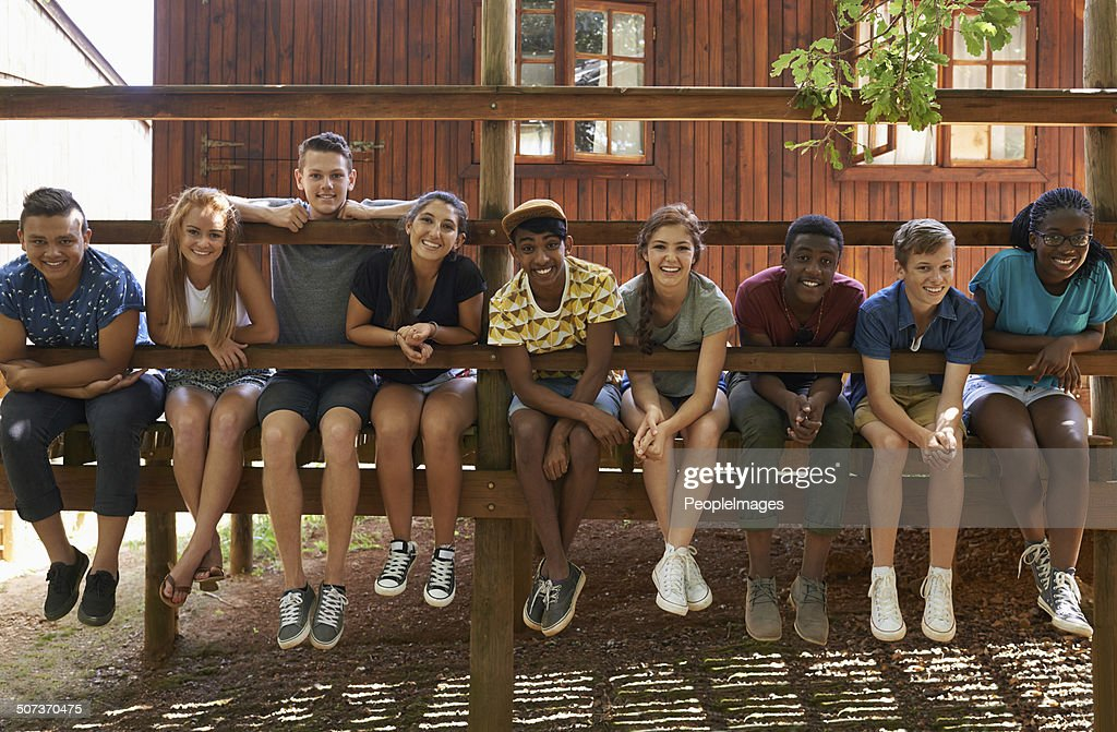 Hanging out in the summer heat : Stock Photo