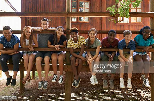 hanging out in the summer heat - teenagers only stock pictures, royalty-free photos & images