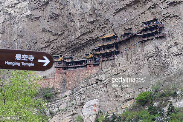 Hanging temple on the cliff
