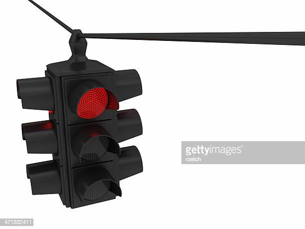 hanging traffic lights - red light stock pictures, royalty-free photos & images