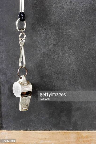 hanging whistle - whistle blackboard stock pictures, royalty-free photos & images