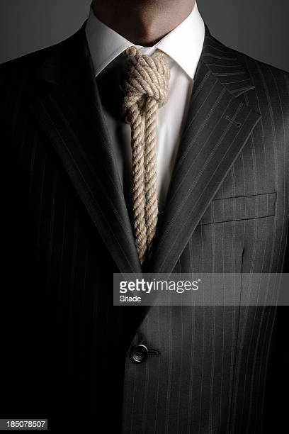 hangmans noose as necktie - hanging death photos stock pictures, royalty-free photos & images