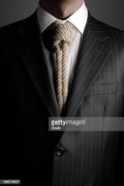 hangmans noose as necktie - noose stock photos and pictures