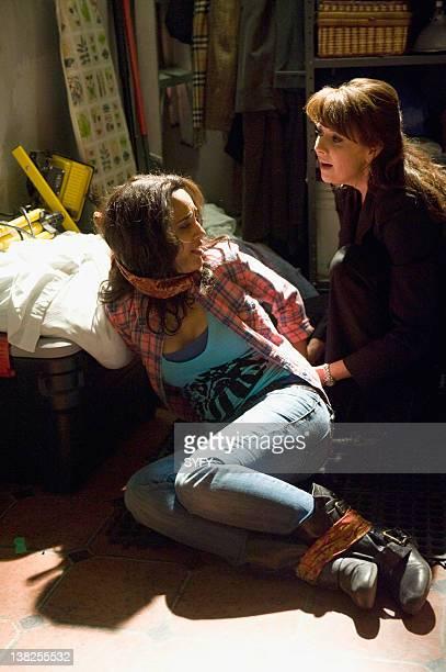 SANCTUARY Hangover Pictured Agam Darshi as Kate Freelander Amanda Tapping as Dr Helen Magnus