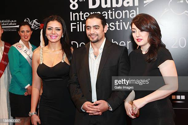 Hani Salama and Kinda Alloush attend the 'A Whole One' premiere during the 2011 Dubai International Film Festival Day Five on Decemeber 11 2011 in...