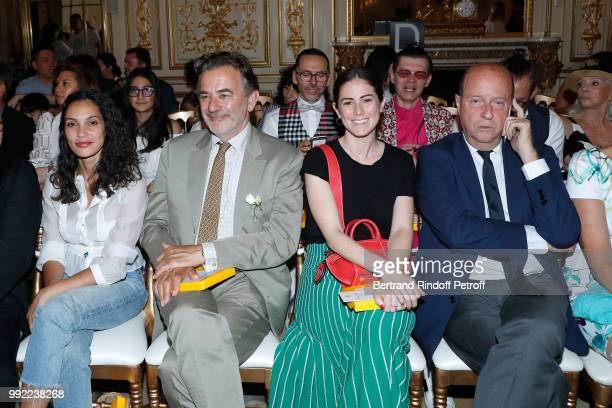 Hania Amar JeanFrancois Legaret Elena Carrettoni and Bernard Danillon attend the Liu Lisi Paris Fashion Week Haute Couture Fall Winter 2018/2019 at...
