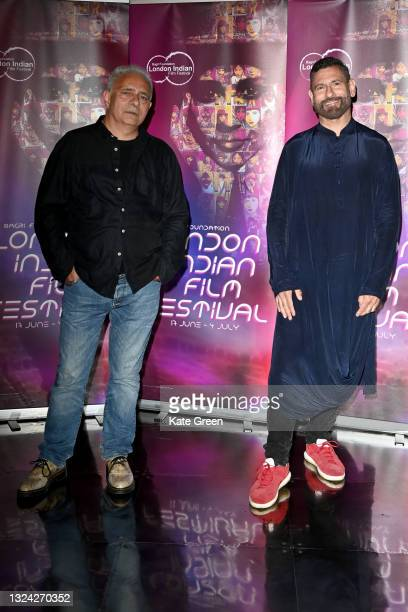 """Hanif Kureshi and Rich Cline attends """"My Beautiful Laundrette"""" screening during London Indian Film Festival 2021 at BFI Southbank on June 18, 2021 in..."""