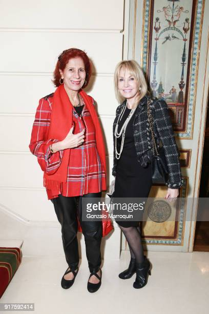 Hanifa Mezoui and Mariel Laury during the Susan Gutfreund Hosts UN Women For Peace Association Reception on February 12 2018 in New York City