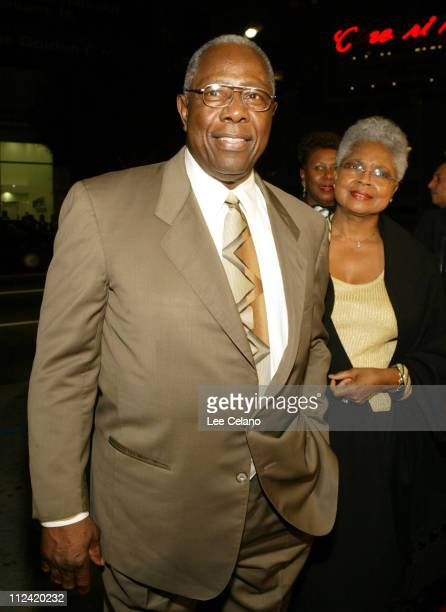 Hank Aaron during Coach Carter Los Angeles Premiere Red Carpet at Grauman's Chinese Theatre in Hollywood California United States