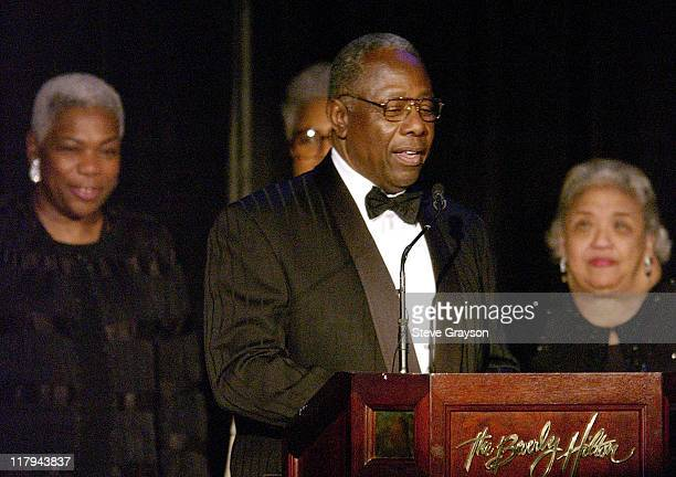 Hank Aaron during NAACP Legal Defense Fund's Hank Aaron Humanitarian Award in Sports at The Beverly Hilton Hotel in Beverly Hills California United...