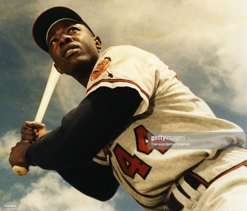 Hank Aaron Portrait Color : News Photo