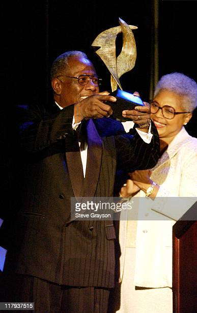 Hank Aaron wife during NAACP Legal Defense Fund's Hank Aaron Humanitarian Award in Sports at The Beverly Hilton Hotel in Beverly Hills California...