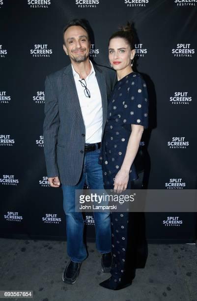 Hank Azaria and Amanda Peet attend 2017 IFC Split Screens Festival 'Brockmire' close up with Hank Azaria and Amanda Peet at IFC Center on June 7 2017...