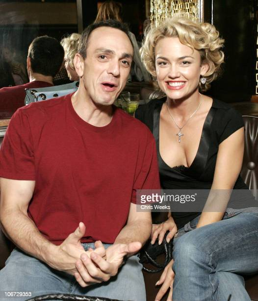 Hank Azaria and Kelly Carlson during Svedka Vodka Presents the Erotica Reading Series Featuring Aisha Tyler at Monroe's in West Hollywood California...