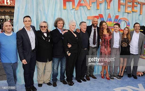 Hank Azaria George Miller Doug Mitchell Singer/actress Alecia Moore aka Pink Robin Williams Common Sofia Vergara Elijah Wood EG Daily and Penguins...