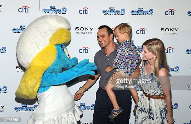 Hank Azaria Hank Hal Azaria and Katie Wright attend The Smurfs 2 New York Blue Carpet Screening at Lighthouse International Theater on July 28 2013...
