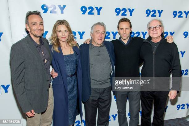 Hank Azaria Michelle PfeifferRobert De Niro Alessandro Nivola and director/executive producer Barry Levinson attend 92Y Presents 'The Wizard Of Lies'...