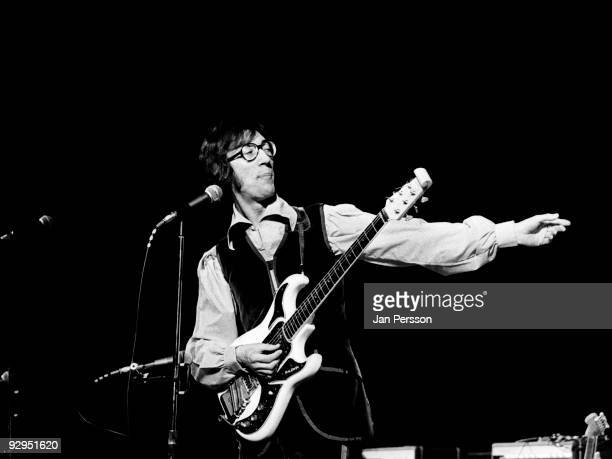 Hank B Marvin performs on stage with The Shadows spin off band Marvin Welch Farrar in March 1971 in Copenhagen Denmark He plays a Burns Hank Marvin...